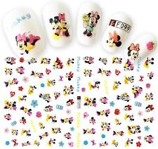 Nail Art Stickers Transfers 3D Self Adhesive Mickey Minnie Mouse (F099)