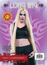 "Ladies 40"" Long Blonde Wig Barbie Eve Rapunzel Halloween Fancy Dress"