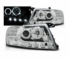 HEADLIGHTS LPMI07 MITSUBISHI PAJERO V60 2001-2006 ANGEL EYES CHROME RHT