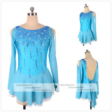 Ice/Roller Figure Skating Dress/Baton Twirling outfit/Tap leotard Made blue