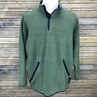 Patagonia Pullover Mens Medium Green Fleece Snap Vintage 80s 1985 Sweater Jacket