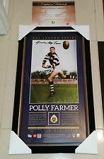 OFFICIAL AFL GEELONG CATS LEGEND HAND SIGNED GRAHAM POLLY FARMER PRINT FRAMED