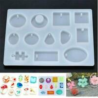 DIY Silicone Pendant Mold Making Jewelry For Resin Necklace Mould Craft Tool LOT
