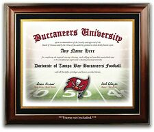 Tampa Bay Buccaneers - Football Fan Certificate Diploma Man Cave  CHRISTMAS GIFT