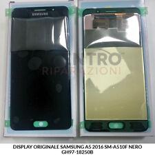 DISPLAY LCD TOUCH SCREEN ORIGINALE SAMSUNG GALAXY A5 2016 SM-A510F NERO BLACK
