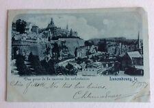 CPA. LUXEMBOURG. Précurseur 1898. Vue prise de la Caserne des Volontaires. Bleu