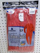 Big Men's Cotton Union Suit One Piece Long Underwear 3X Red