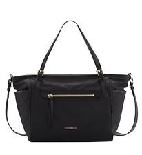 NWT Burberry Leather-Trim Diaper Bag , + Changing pad , Black
