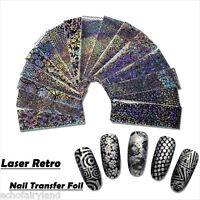 16Pcs/set Laser Starry Sky Nail Foil Nail Art Transfer Sticker Manicure Decor
