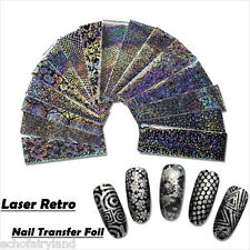 16Pcs/set Laser Starry Sky Nail Foil Nail Art Transfer Sticker Manicure Decor