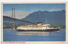 C.P.R. Princess of Nanaimo Shipping Postcard, B570