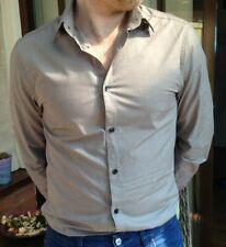 Men's Plain Grey H&M Formal Slim Fit Long Sleeve Shirt