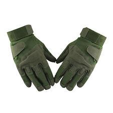 Motorrad Armee voller Finger Airsoftgun Kampf Handschuhe XL Armee gruen K9E8