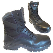 BRITISH ARMY - GOLIATH Black Leather Safety Combat Boots ST Steel Toe SURPLUS