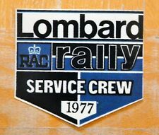 Lombard RAC Rally Service Crew 1977 Motorsport Sticker / Decal