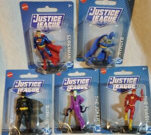 Lot of 5 DC Comics Justice League Minis Figures Joker, Batman, Superman, Flash