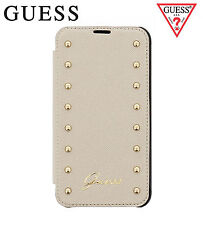GUESS Studded Booktype Flip Case for iPhone 6/6S Plus Beige (GUFLBKP6LSAC)