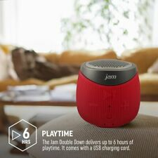 Jam HXP370RDEU Double Down Portable Bluetooth Speaker - Red 6hrs Play Time