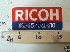STICKER,DECAL RICOH KR5 AND KR10 CAMERA