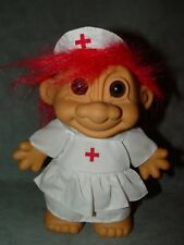 "Troll Doll 7"" Russ Large RN LPN Nurse Red Cross"
