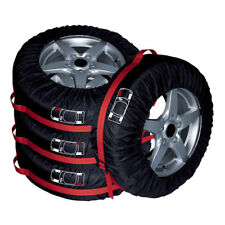 "4PCS 13""-19"" Black Car SUV Spare Wheel Tyre Tire Cover Carry Tote Storage Bag"