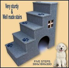 30 inches tall wooden dog steps, pet stairs. Doggy stairs.