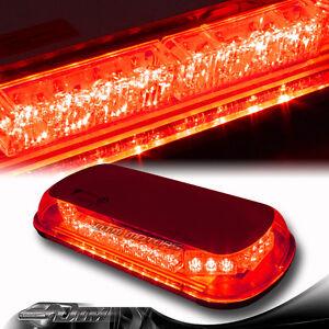 34 LED Magnetic Base Emergency Flash Warn Rooftop Strobe Light Red Universal 6