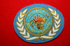 UNITED NATIONS UN UNEF BULLION WIRE BREAST BADGE EOD MILITARY ENGINEERS