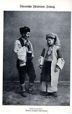 Bauern aus Jajce * Unsere jüngsten Provinzen * Bilddokument von 1908