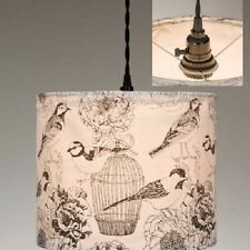 Bird Themed Birdcages Fabric Pendant Hanging lamp