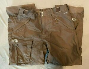 The North Face HyVent Dark Brown Cargo-Style Waterproof Breathable Pants Men's L
