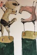 Ann St John Hawley OOAK Watercolor VAGINA DENTATE' Museum Artist Value $1500