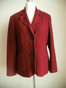CONCEPT UK Elegante Wolljacke 44,Blazer,Jacket,Jäckchen,Farbe Rotwein,wie NEU