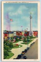 1938 TRENTON NEW JERSEY*NJ*BATTLE MONUMENT PARK*AMERICAN FLAG*TO CESSNA PA
