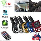 Wireless FM Transmitter Modulator Car Kit MP3 Music Player USB SD MMC LCD Remote