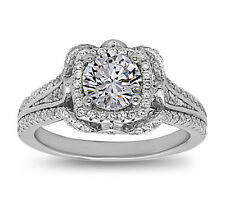 Sterling Silver Round Cut AAA quality CZ Solitaire Engagement Ring, Size 7