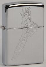 Zippo lighter Flying Eagle high polish chrome. Aguila Volando cromado pulido