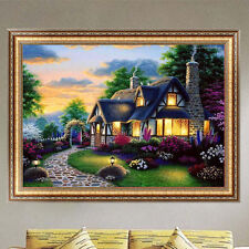 DIY 5D Diamond Painting Garden House Embroidery Cross Stitch Home Decor Crafts