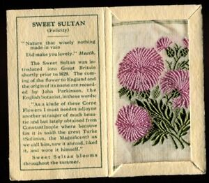 Kensitas Woven Silk Flowers,1934,Small,1st Series,Folder Type C,SWEET SULTAN,#55