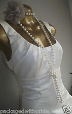CARMEL IVORY RUFFLE HITCHED UP PARTY 20's DESTINATION WEDDING BRIDAL DRESS 16