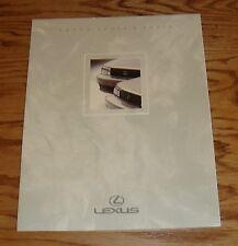 Original 1991 Lexus LS 400 & ES 250 Sales Brochure 91