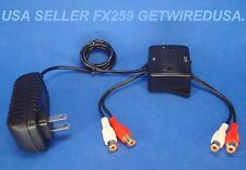 RCA AUDIO SIGNAL BOOSTER ADJUSTABLE PREAMP LINE DRIVER STEREO PHONO AMPLIFIER