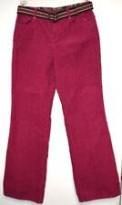 Liz Claiborne Women Pants Trousers Sz 6 Corduroy Dark Pink