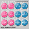 "(12) I LIVE SOFTBALL 1.25"" pinback buttons / badges - team gift pins pink & blue"