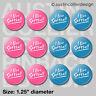 "(12) I LIVE SOFTBALL 1.25"" pinback buttons / badges - team gift pins pink & blue"