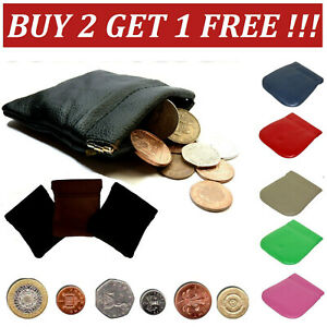Leather Coin Pouch | STRONG Metal Spring Closure | Snap Top Coin Purse SprnCn