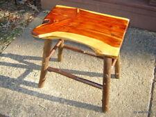 Orig Rustic Log Home Furniture CEDAR/HICKORY TABLE/BENCH cabin barn~made USA