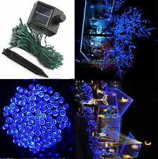 New 60 LED Blue 10M Solar String Fairy Lights for Xmas Outdoor Party Graden Lamp
