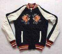 Ralph Lauren Denim Supply Women Embroider Double-Dragon Baseball Quilted Jacket