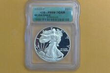 2000 P PROOF SILVER EAGLE ICG PR69 DCAM GREEN LABEL - SPOTTED